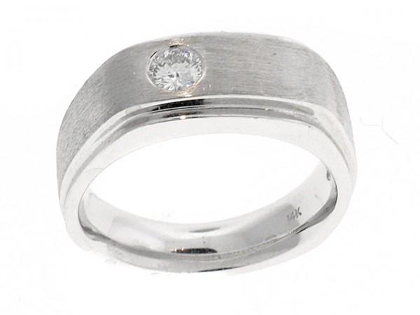 14K Mens Diamond Solitaire Ring