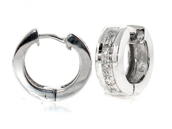 1/4ct Diamond Huggie Earrings