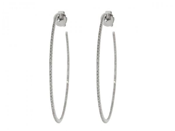0.52ct Diamond Hoop Earrings