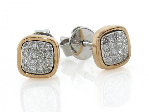 0.13ct Diamond Pave Stud Earrings