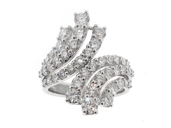 14K Diamond Right Hand Ring