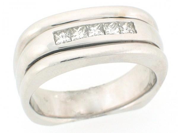 .55ct Princess Diamond Mens Ring