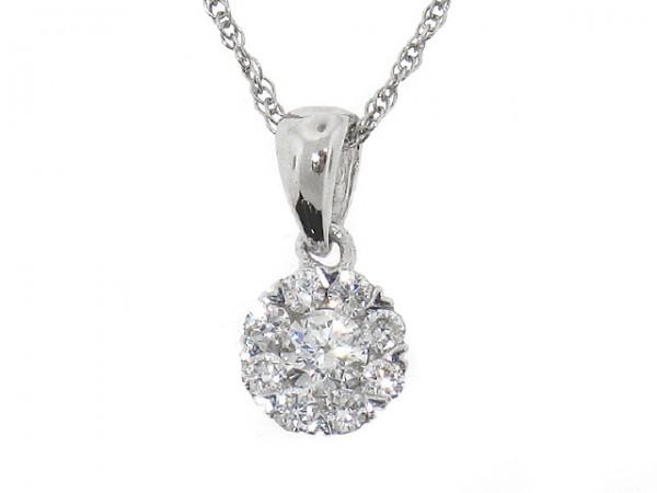 0.20ct Diamond Cluster Pendant