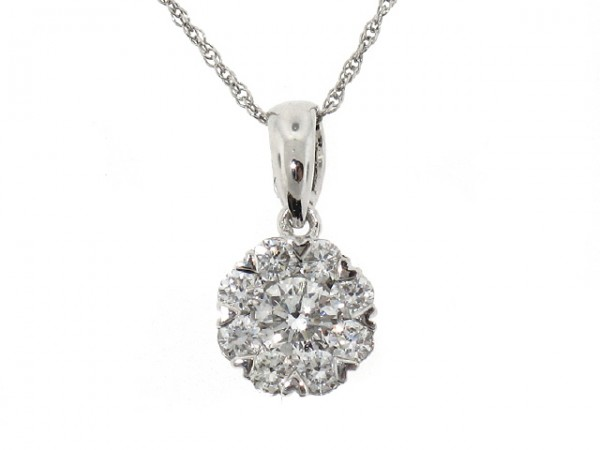 0.50ct Diamond Cluster Pendant