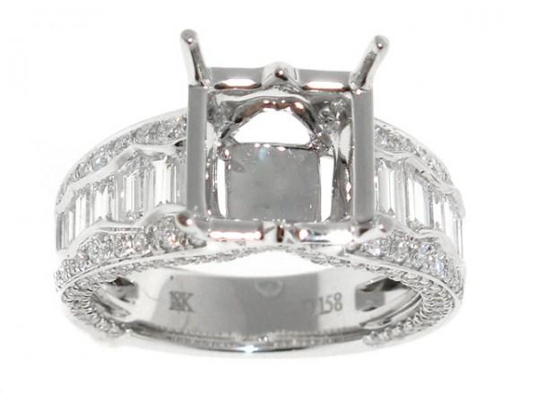 18K Fancy Diamond Engagement Ring