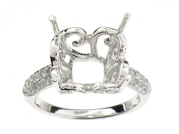 .73ct Diamond Semi-Mount Ring