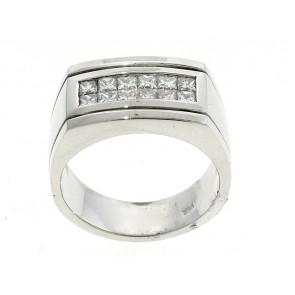 14K Princess Diamond Men's Ring