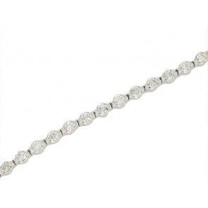 14K Shared Prong Diamond Tennis Bracelet