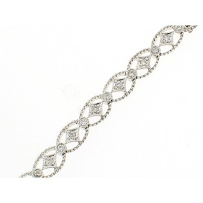 14K Diamond Circle and Sparkle Bracelet