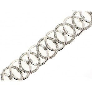 14K Diamond Circles Bracelet