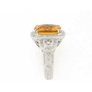 12.50ct Beryl and Diamond Ring