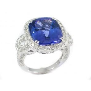 11.69ct Tanzanite and Diamond Ring