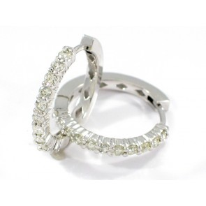 14K 22 Diamond Diamond Hoop Earrings
