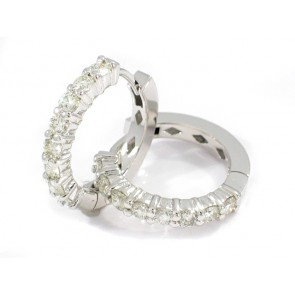 14K Hoop Earrings with 1.24ct in Diamonds