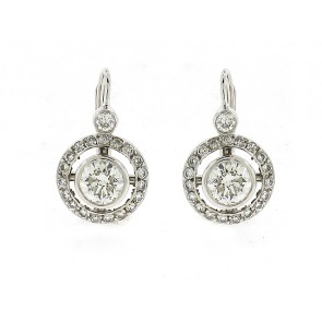 14K Round Diamond Earrings