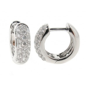 0.68ct Diamond Pave Huggy Hoop Earrings