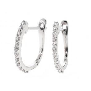 Petite DiamondHoop Earrings