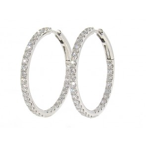 1.45ct Diamond Hoop Earrings