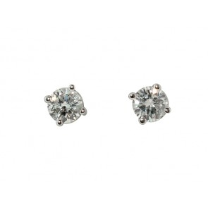 0.41CT Diamond Stud Earrings