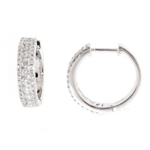 0.63ct Diamond Huggy Style Earrings