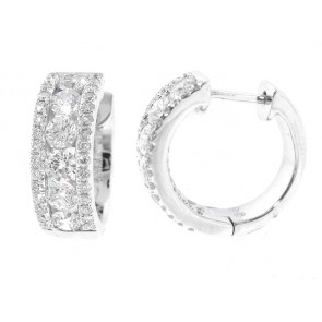 1.40ct Diamond Huggy Style Earrings