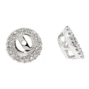18K Diamond Stud Earring Jackets