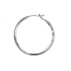 0.33ct Diamond Hoop Earrings