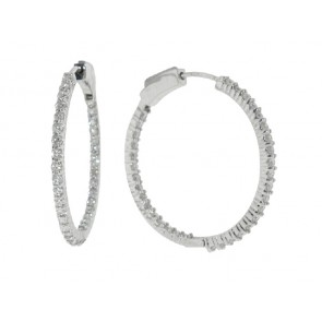 1.36ct Diamond Hoop Earrings