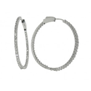 1.85ct Diamond Hoop Earrings