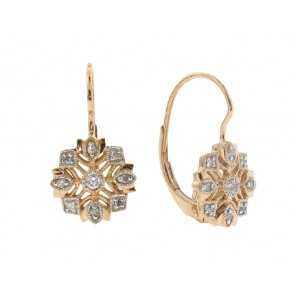 .13ct Antique Style Diamond Earrings