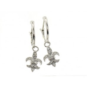 .11ct Fleur de Lis Earrings