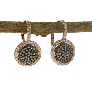 Pave Black Diamond French Clip Earrings