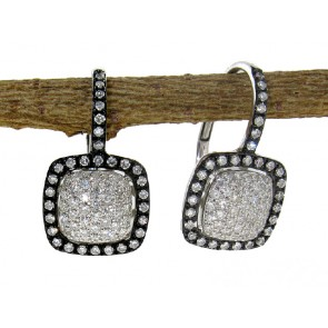 .45ct White & Black Diamond Earrings
