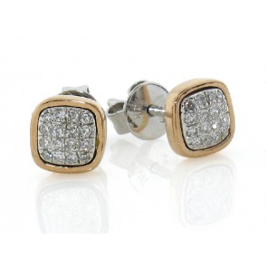0.13ct Diamond Pave Stud Earrings