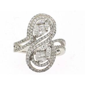 18K White Gold Right Hand Ring