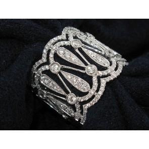 18K Ornate Diamond Art-Deco Ring