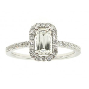 0.64ct Emerald Cut Diamond Engagement Ring