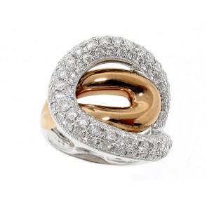18K Loop Knot Diamond Ring