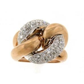 18K Round Circle Knot Ring