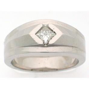 Mens Diamond Solitaire Ring
