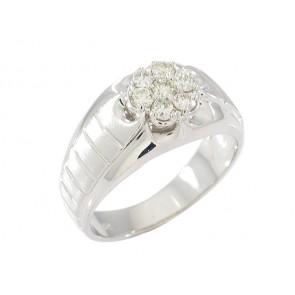 14K Diamond Cluster Men's Ring