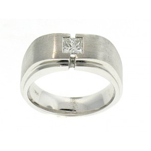 14K Mens Solitaire Ring