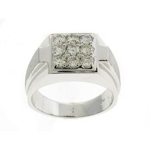 14K Mens Diamond Cluster Ring