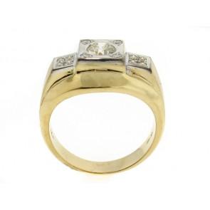 14K Vintage 60's Mens Diamond Ring