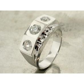 Diamond Three-Stone Ring for Men