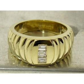 Classic Step Motif Baguette Diamond Ring for Men