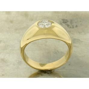 0.86ct Retro Diamond Solitaire Men's Ring