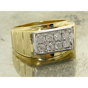 0.56ct Vintage Diamond Pave Gent's Ring