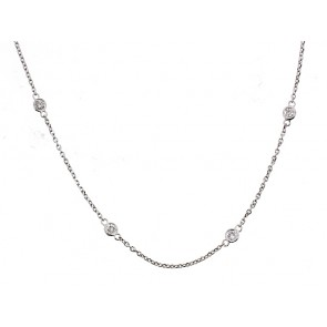 14K Diamond Chain Necklace, 0.70ct