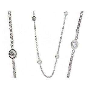13 Round Bezel Set Diamond Chain
